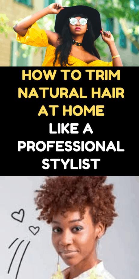 How To Trim Natural Hair At Home Like A Professional Stylist